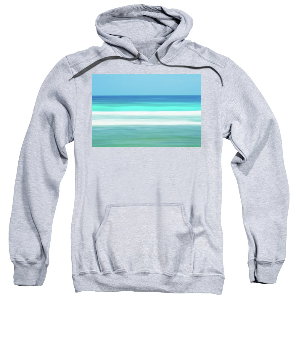 Batts Rock Sweatshirt featuring the photograph Aqua Lines by Andre Donawa