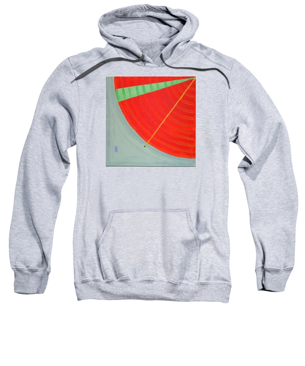 Landscape Sweatshirt featuring the painting Aquifer # 8 by Jonathan Perlstein