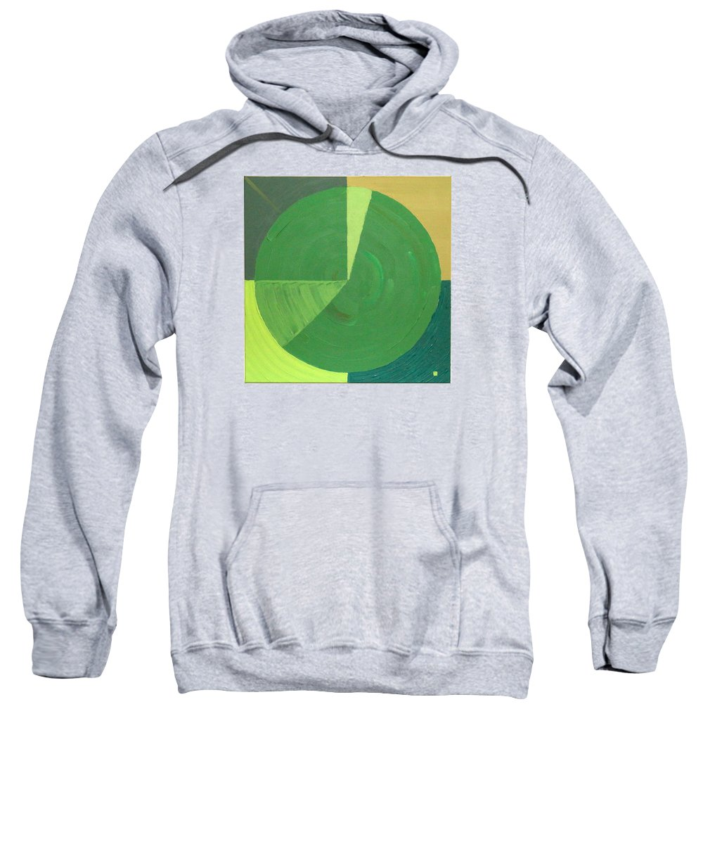 Landscape Sweatshirt featuring the painting Aquifer # 9 by Jonathan Perlstein