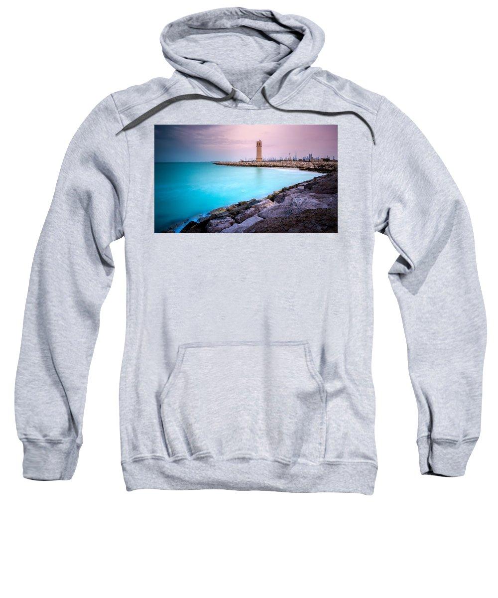 Sea Sweatshirt featuring the photograph Arabic Harbour by Sean Mcewan