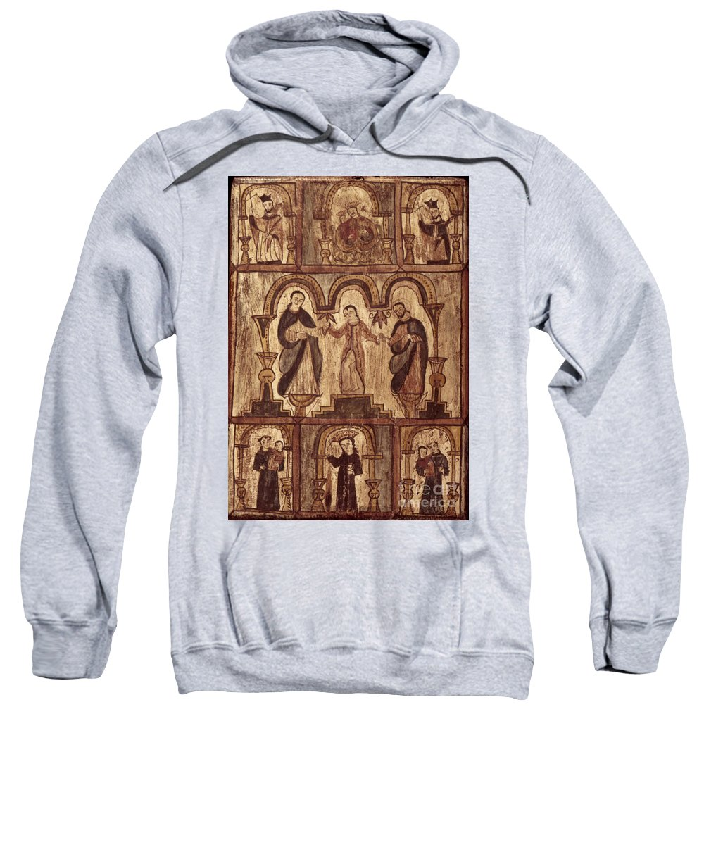 1820s Sweatshirt featuring the photograph Aragon: Jesus & Disciples by Granger