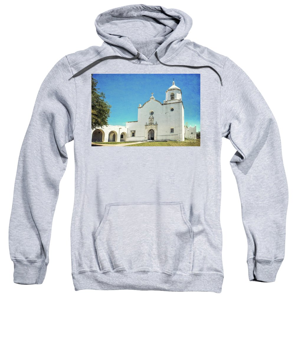 Mission Sweatshirt featuring the photograph Mission La Bahia by Lynn Sprowl