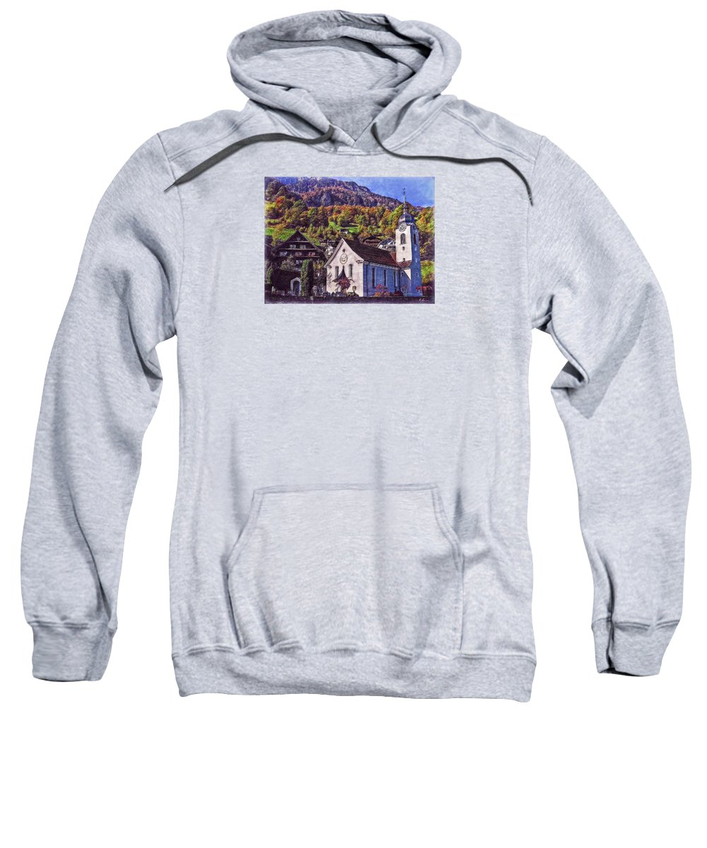 Switzerland Sweatshirt featuring the photograph Arcadian Hamlet by Hanny Heim