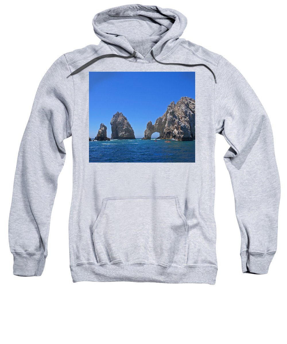 Mexico Sweatshirt featuring the photograph Arch At Cabo San Lucas by Heather Coen
