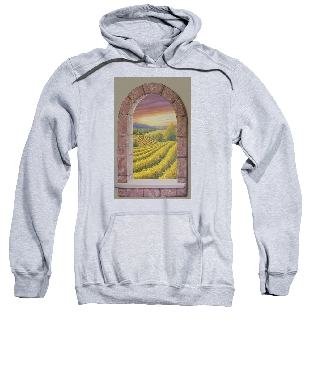 Realistic Sweatshirt featuring the painting Arco Vinal by Angel Ortiz