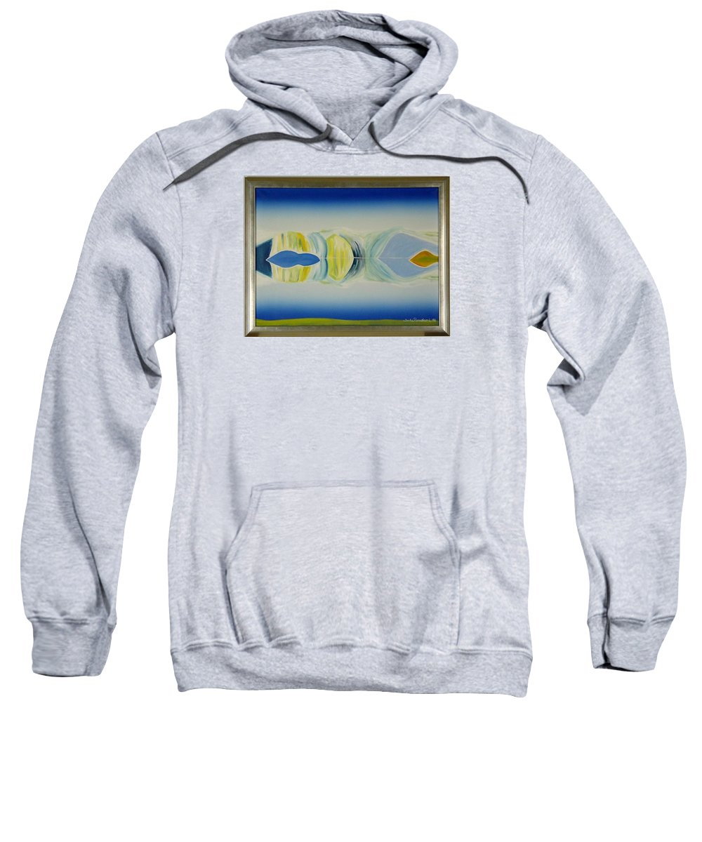 Landscape Sweatshirt featuring the painting Arctic Landscape by Jarle Rosseland