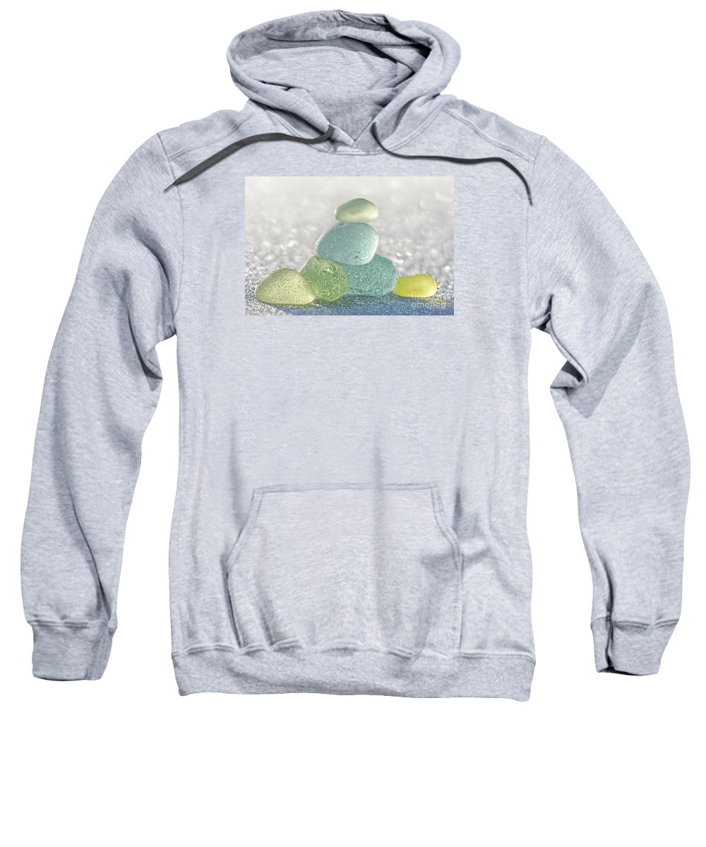 Sea Glass Sweatshirt featuring the photograph Arctic Spring Sea Glass by Barbara McMahon