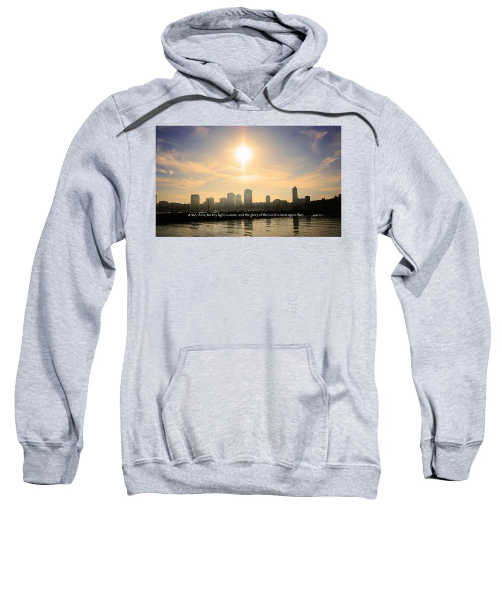 Milwaukee Sweatshirt featuring the photograph Arise Shine by Debbie Nobile