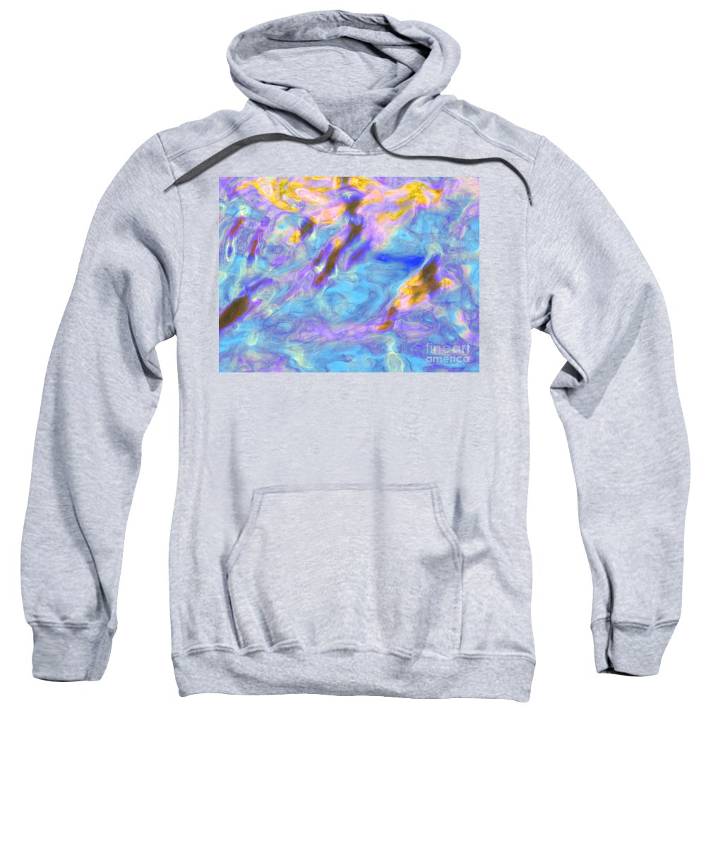 Abstract Sweatshirt featuring the photograph Love What Arises by Sybil Staples