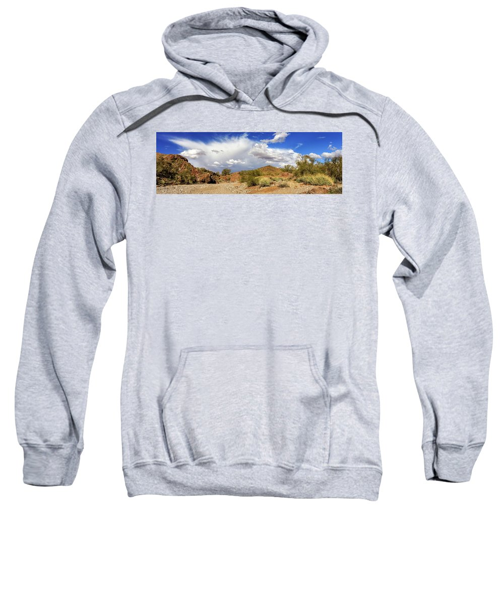 Landscape Sweatshirt featuring the photograph Arizona Clouds by James Eddy