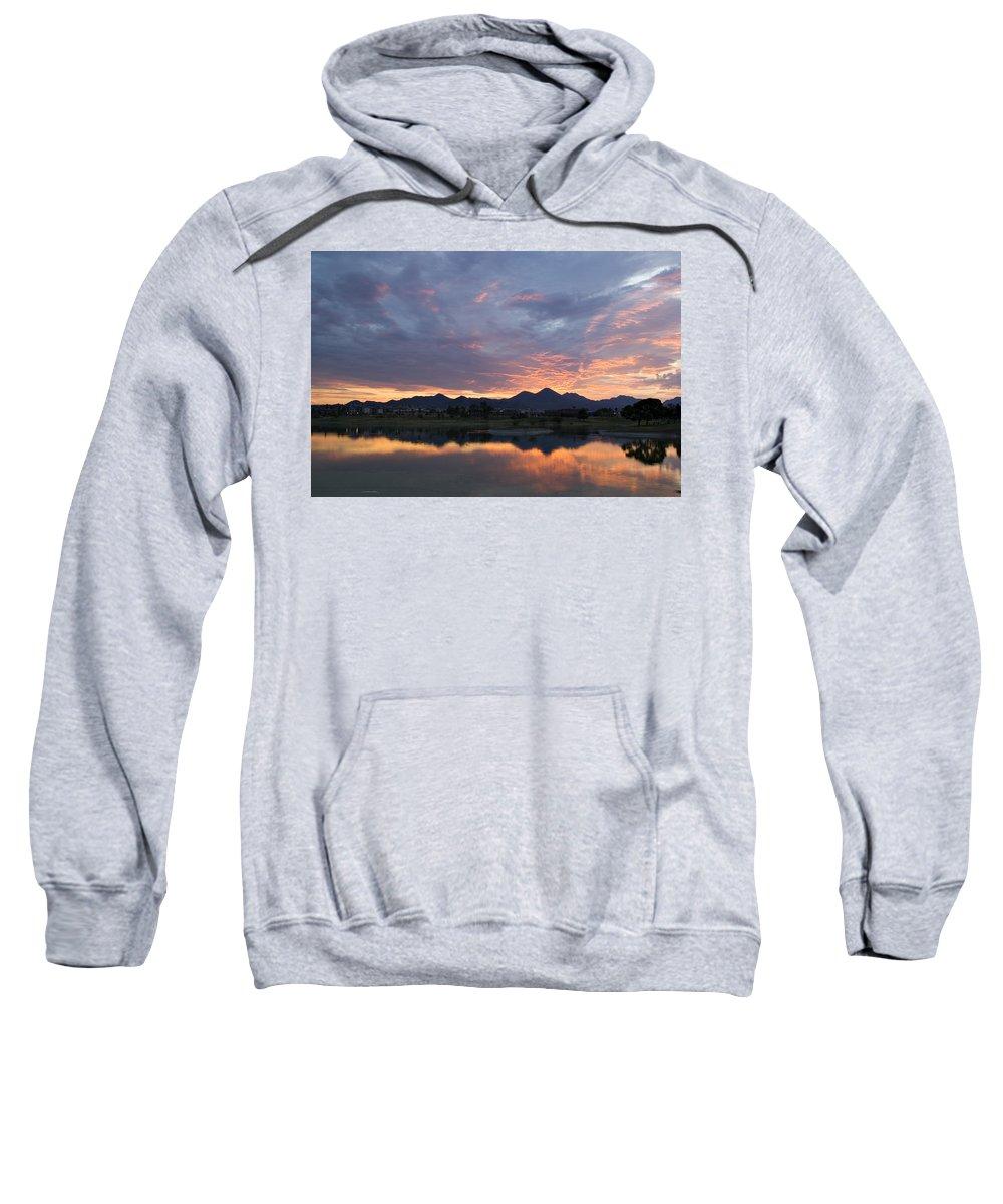 Arizona Sweatshirt featuring the photograph Arizona Sunset by Renee Hong