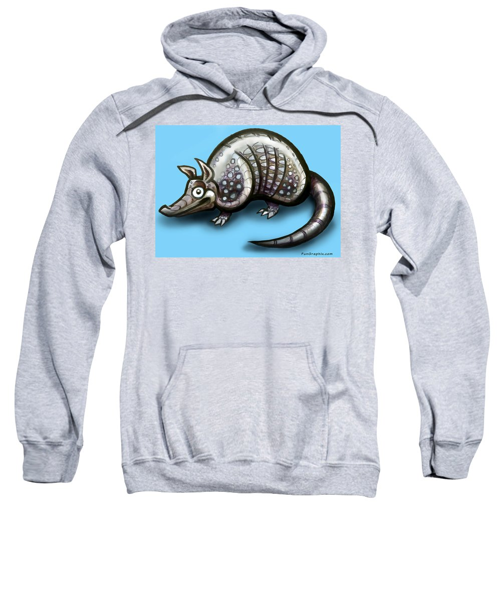 Armadillo Sweatshirt featuring the greeting card Armadillo by Kevin Middleton