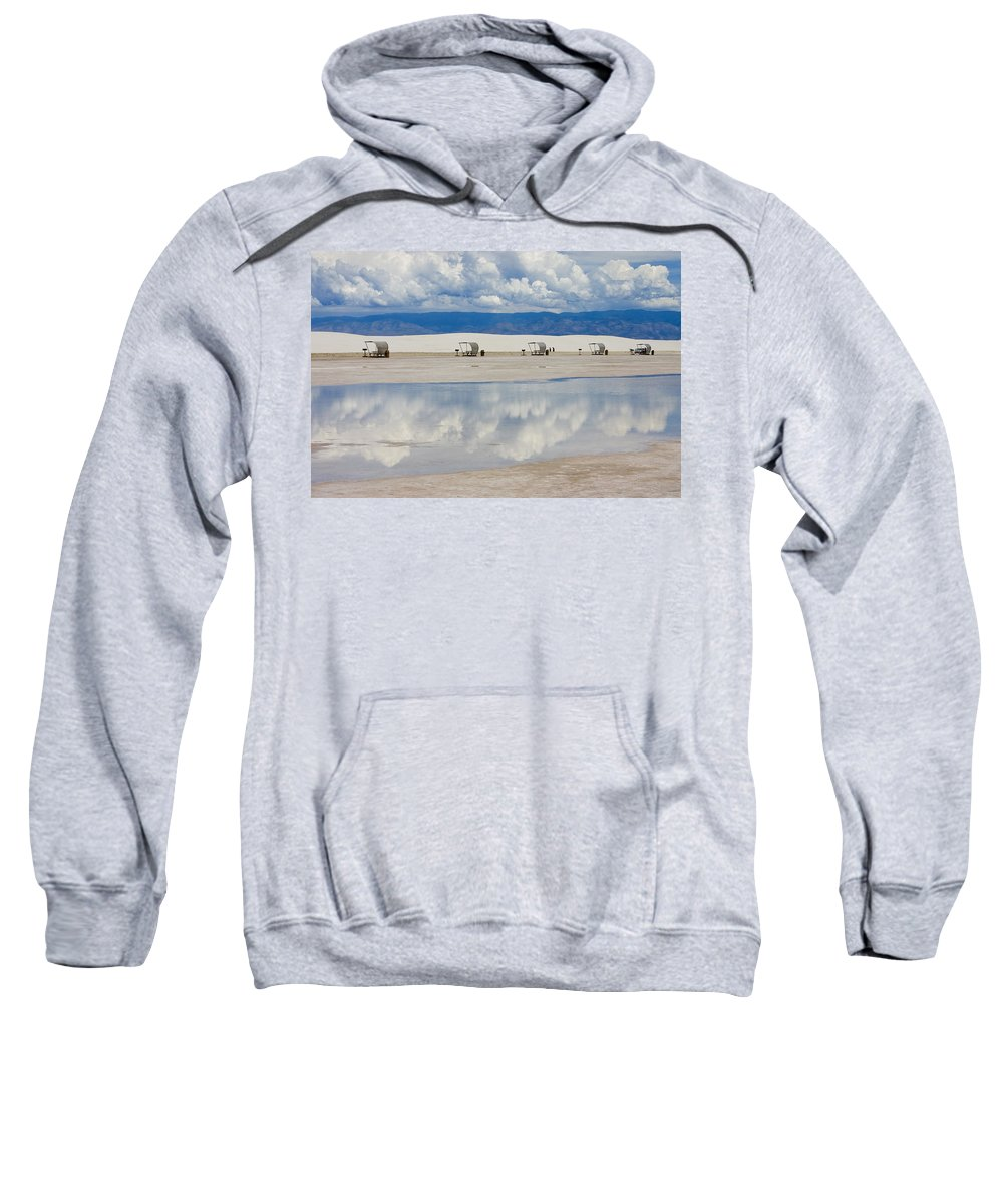 New Mexico Sweatshirt featuring the photograph Armageddon Picnic by Skip Hunt