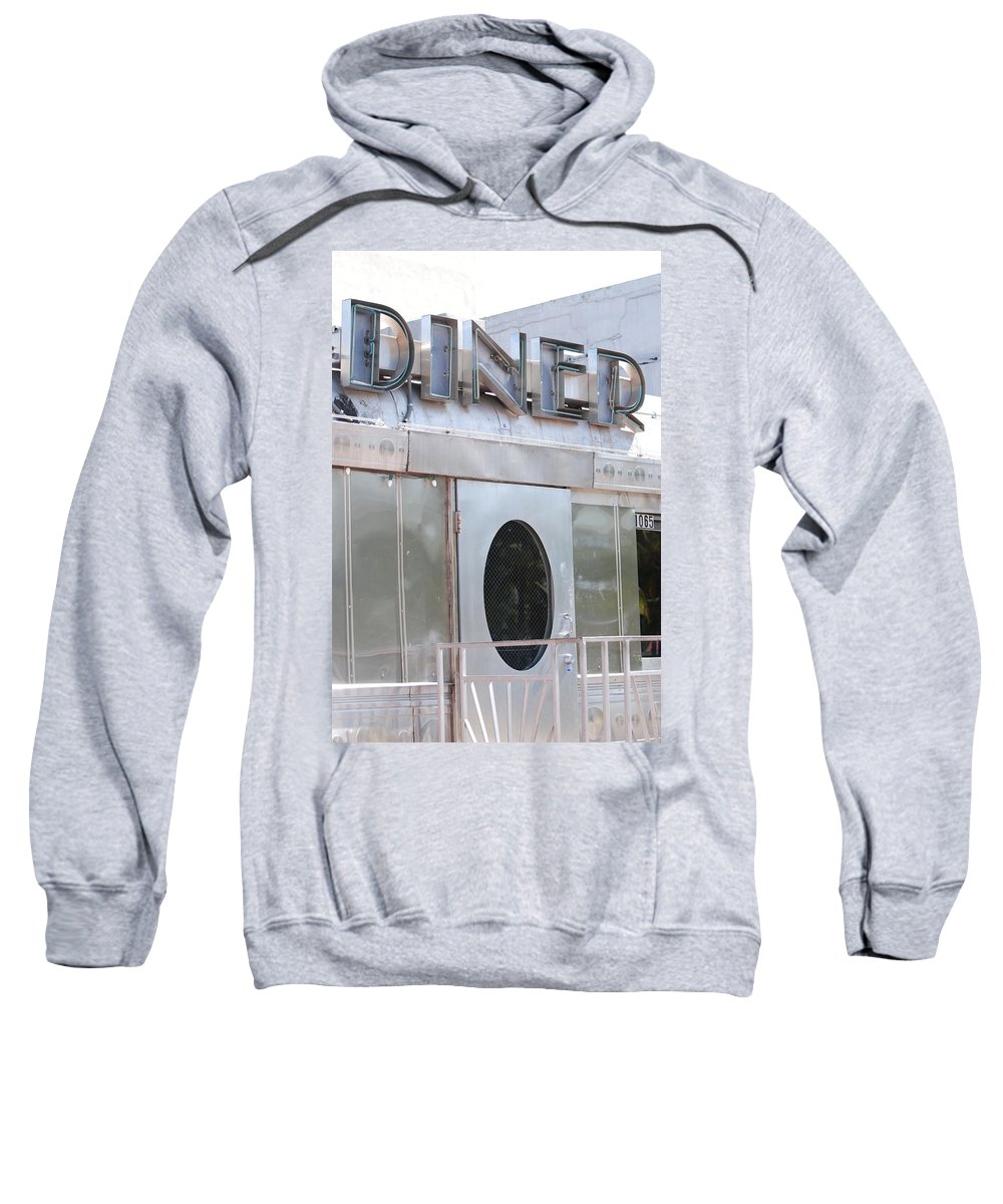 Architecture Sweatshirt featuring the photograph Art Deco Diner by Rob Hans