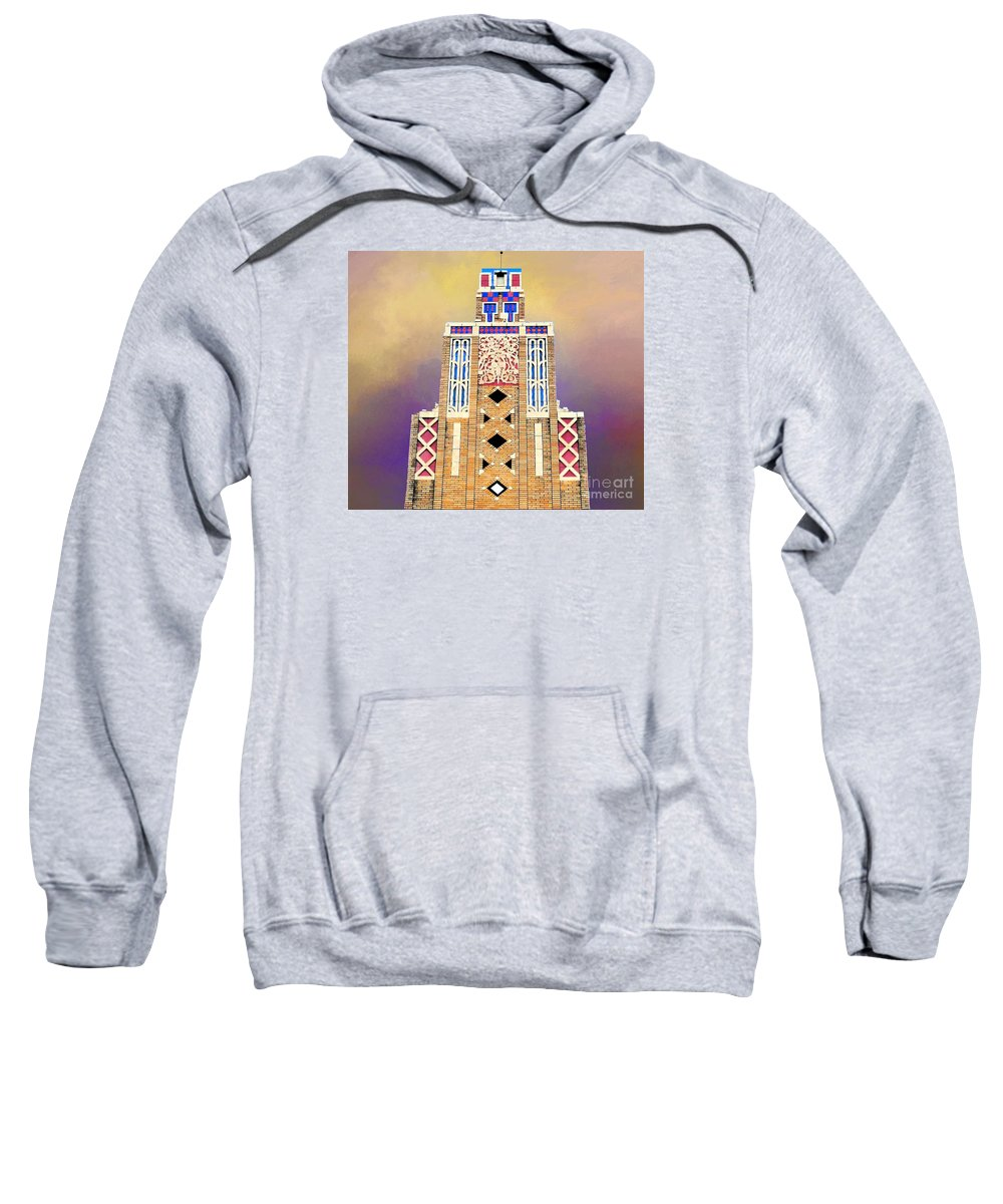 Art Deco Sweatshirt featuring the photograph Art Deco Public Market Tower by Janette Boyd
