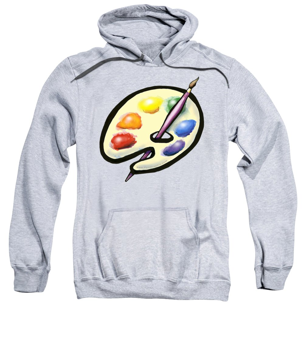 Art Sweatshirt featuring the digital art Art by Kevin Middleton