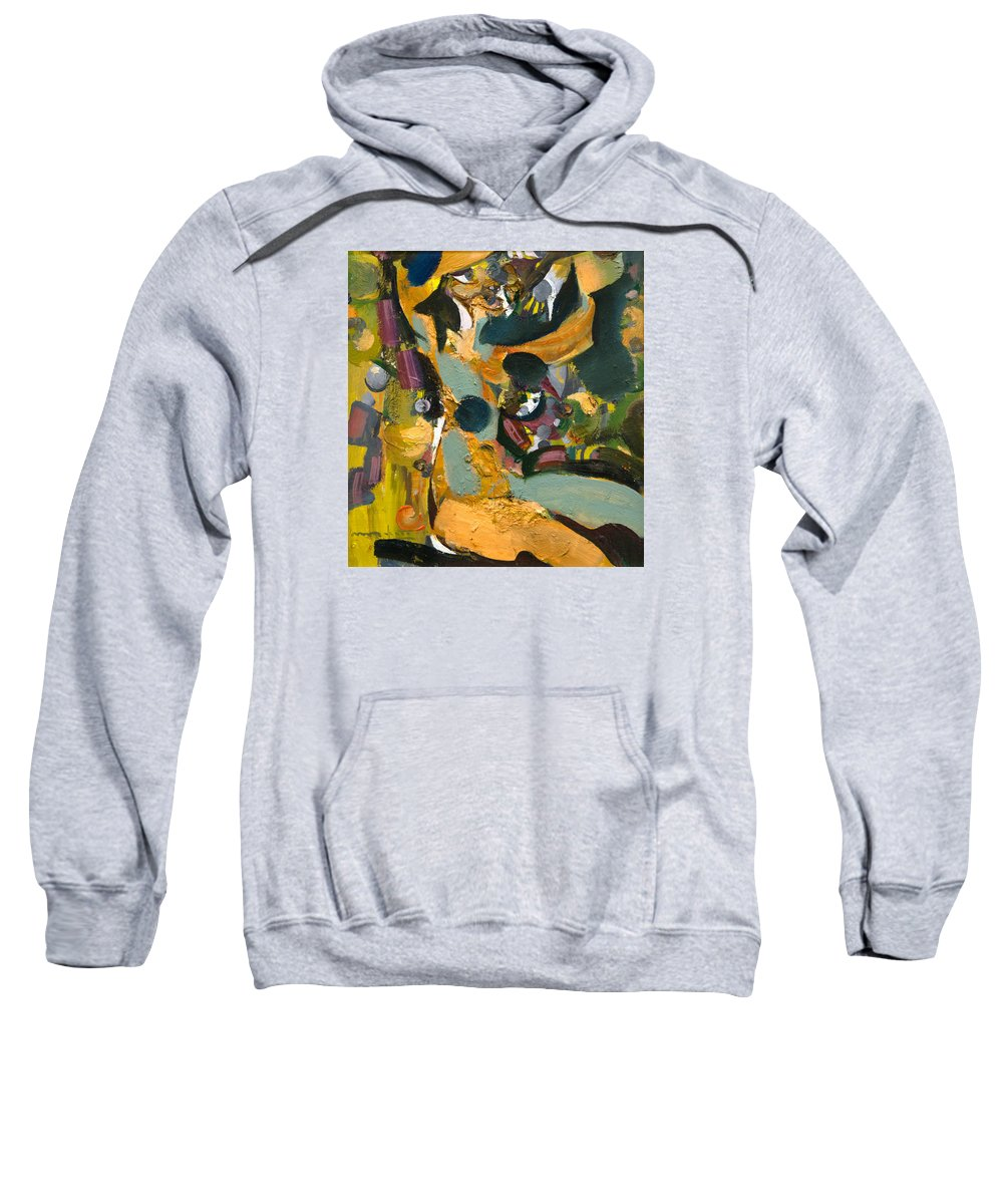 Female Sweatshirt featuring the painting Artistic by Nikolay Malafeev
