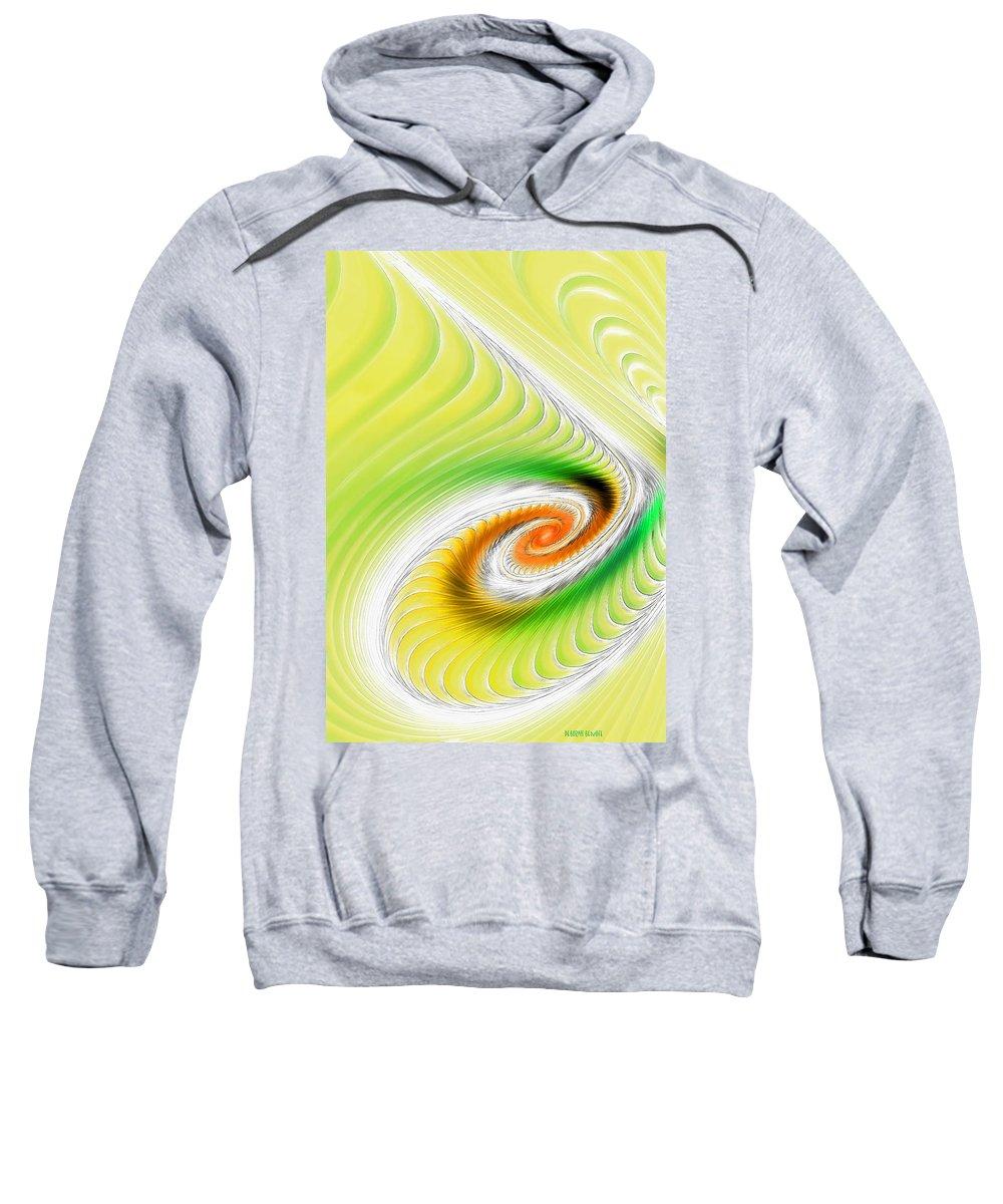 Fractal Art Sweatshirt featuring the digital art Artistic Spiral by Deborah Benoit