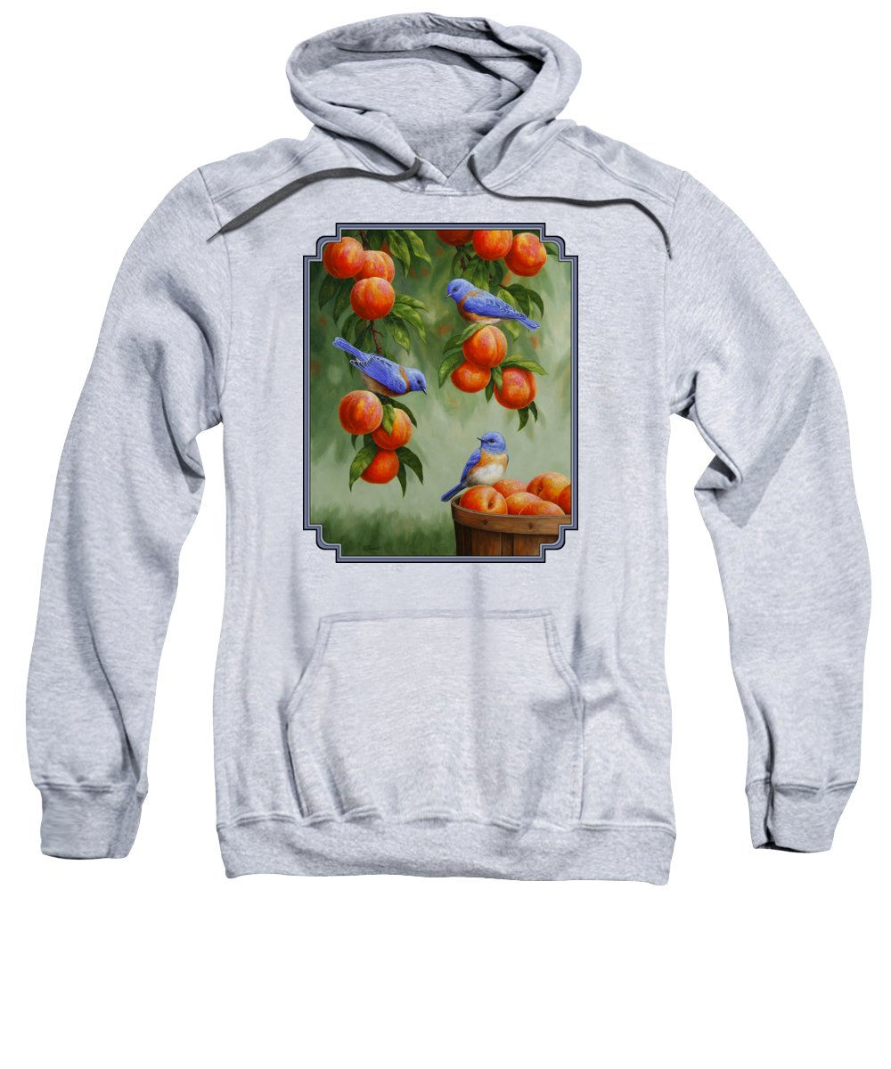 Peach Hooded Sweatshirts T-Shirts