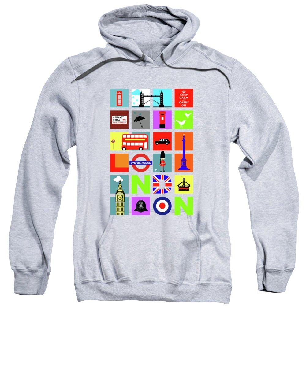 London Tube Hooded Sweatshirts T-Shirts