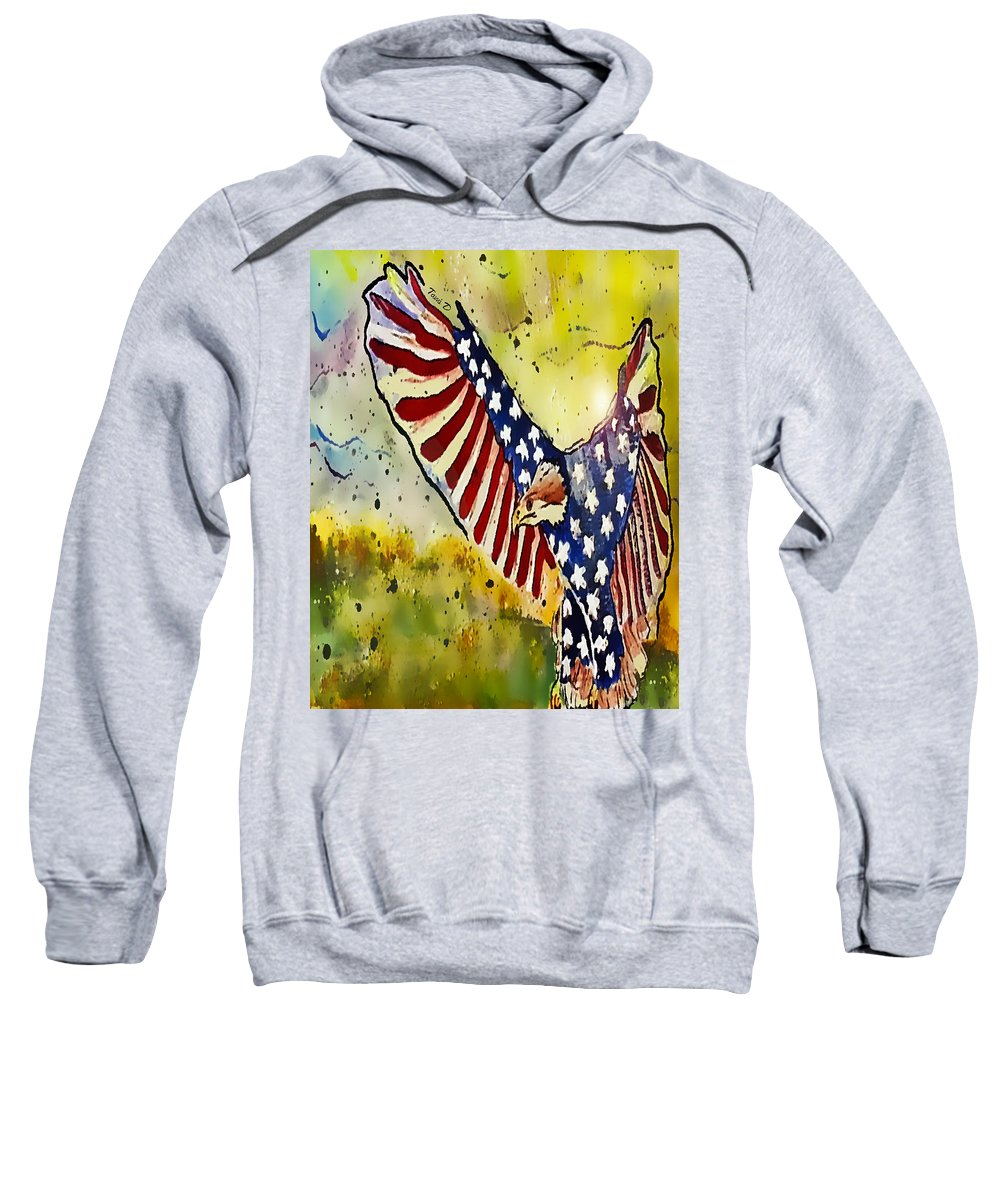 Majestic Sweatshirt featuring the painting Majestic by Tami Dalton