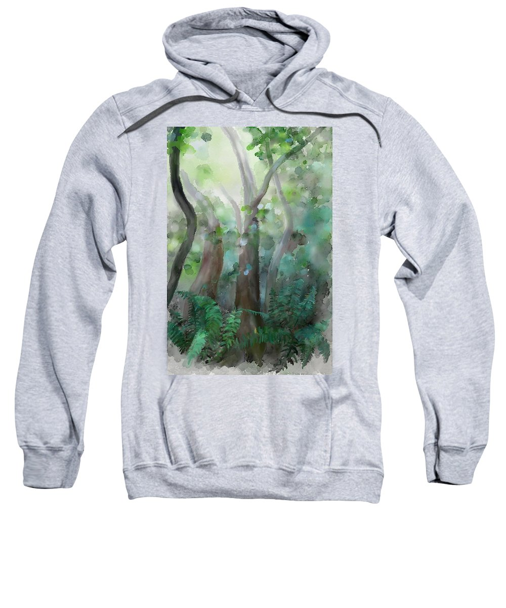 Forest Sweatshirt featuring the painting Jungle by Ivana Westin