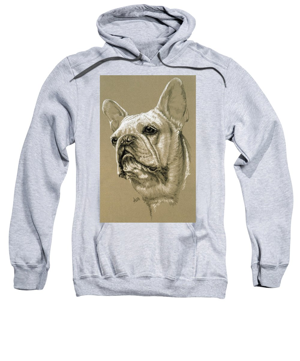 Dog Sweatshirt featuring the drawing French Bulldog by Barbara Keith