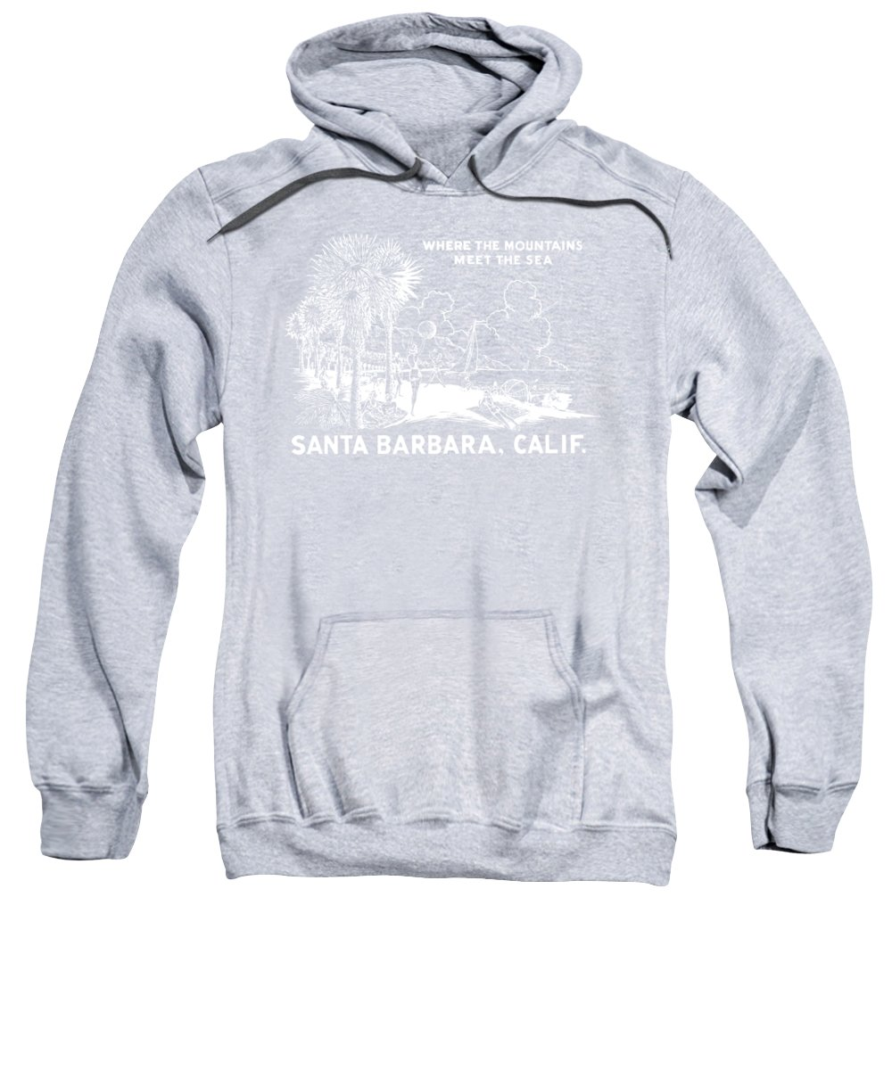 Historicimage Sweatshirt featuring the painting Vintage Santa Barbara by Historic Image