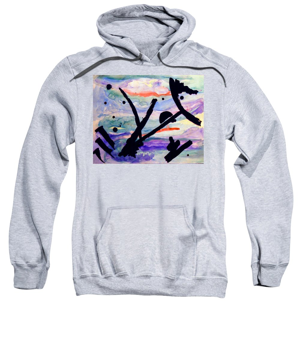Abstract Sweatshirt featuring the painting Asian Impression by Steve Karol