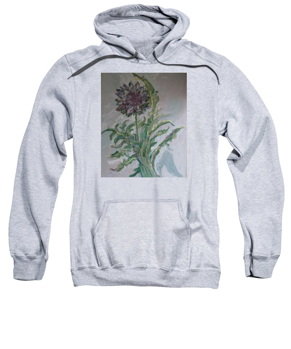 Eatable Thistle Sweatshirt featuring the painting Asparagus by Pat Gray