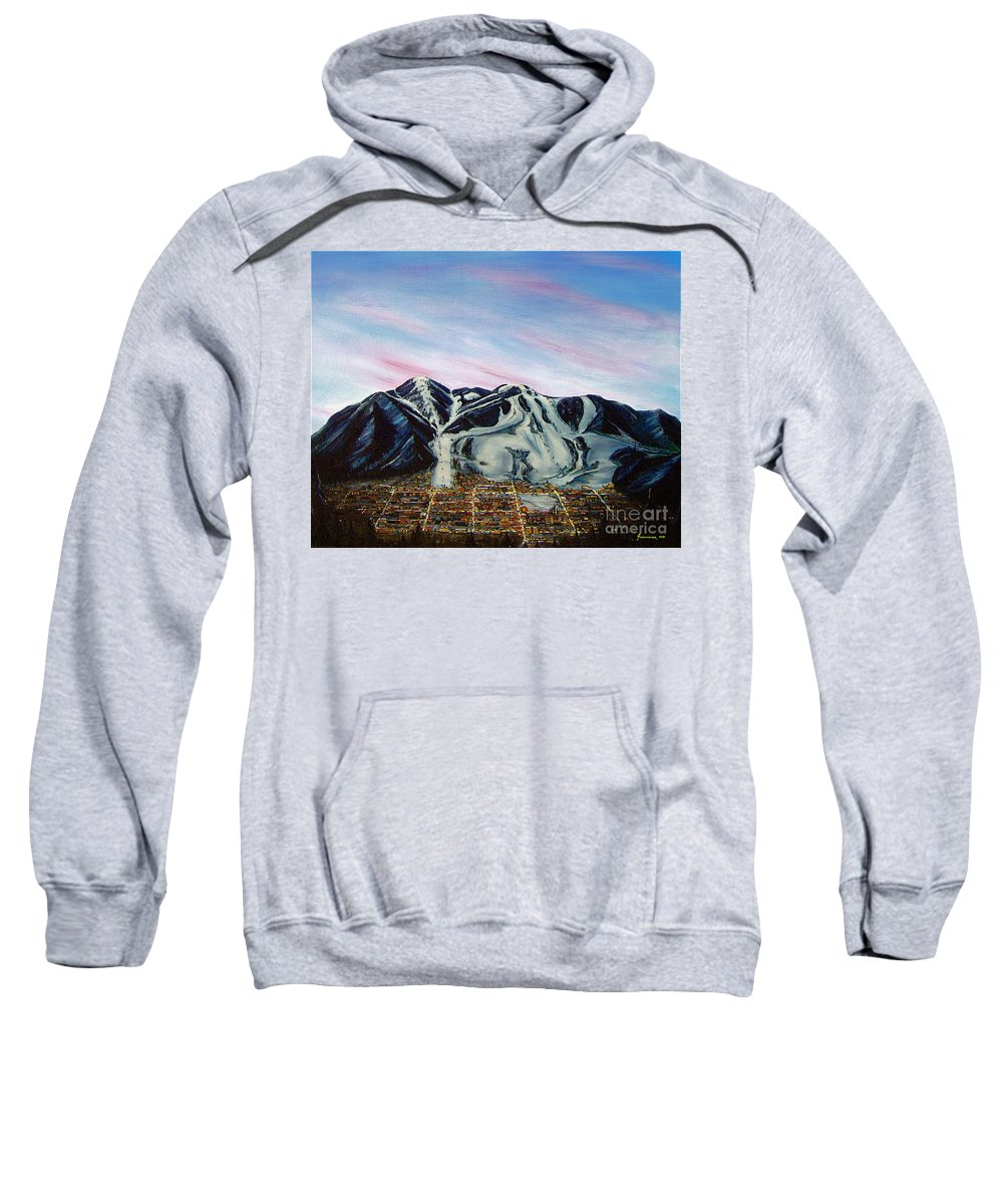 Aspen Sweatshirt featuring the painting Aspen by Jerome Stumphauzer