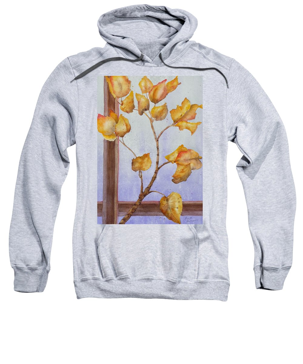 Leaves Sweatshirt featuring the painting Aspen by Ruth Kamenev