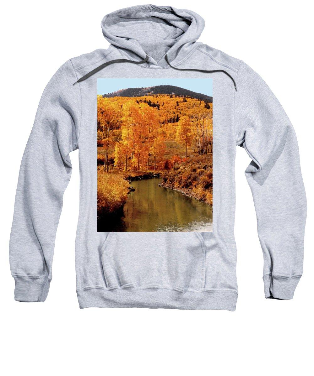Stream Sweatshirt featuring the photograph Aspen Stream by Linda Weyers