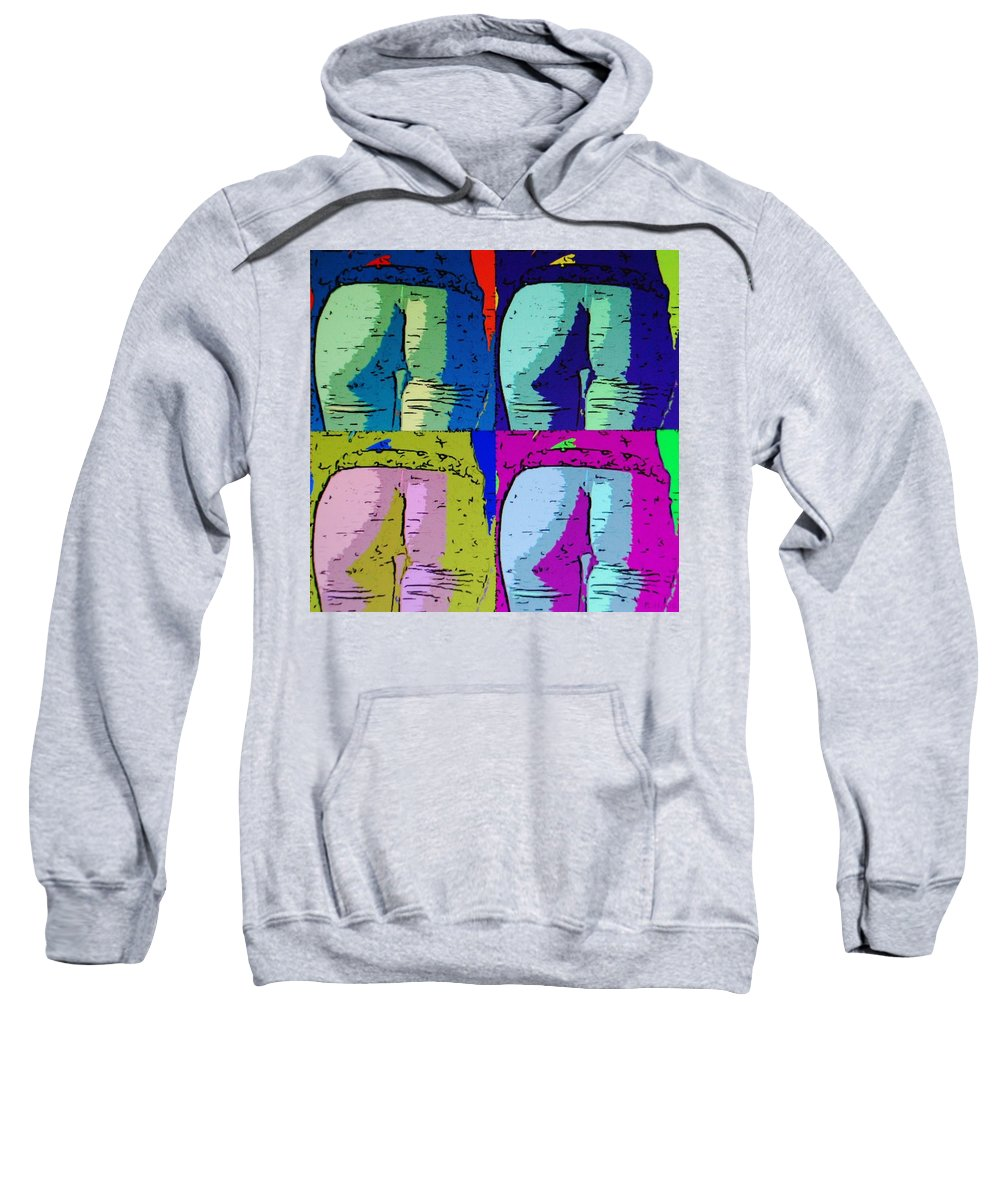 Ass Sweatshirt featuring the photograph Ass Colors by Rob Hans