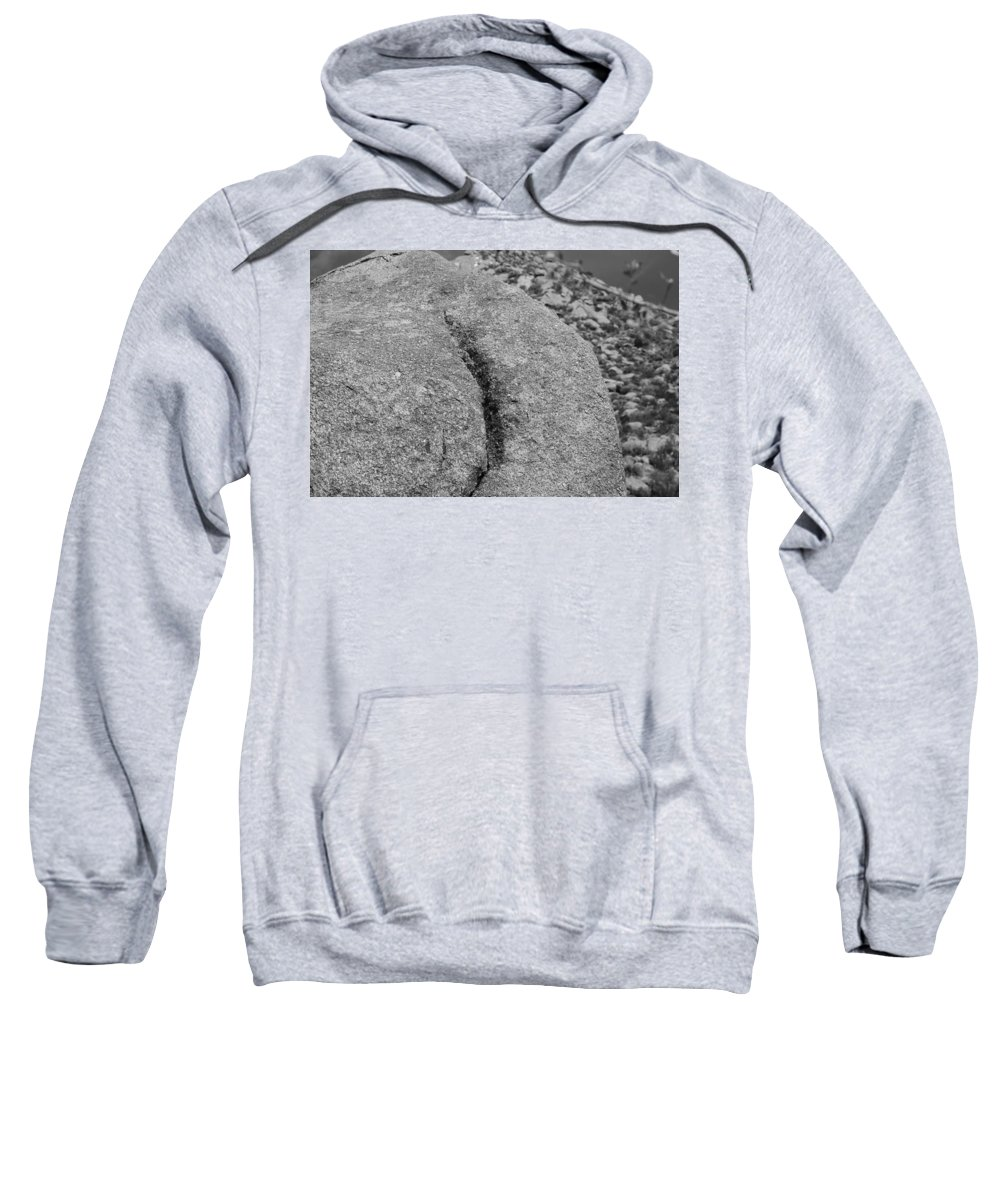 Rock Sweatshirt featuring the photograph Ass Crack New Mexico In Black And White by Rob Hans