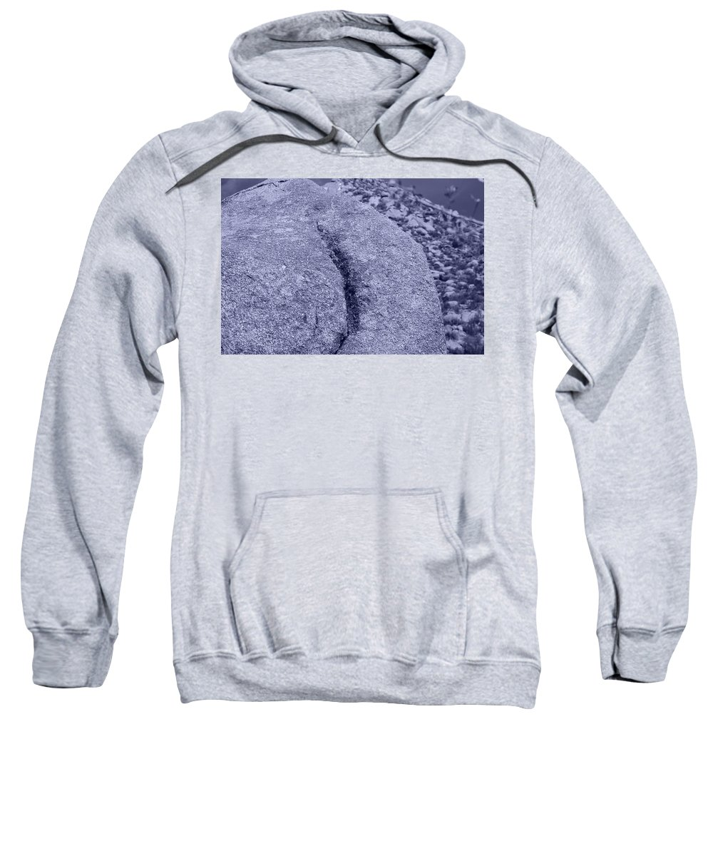 Pop Art Sweatshirt featuring the photograph Ass Crack New Mexico In Cyan by Rob Hans