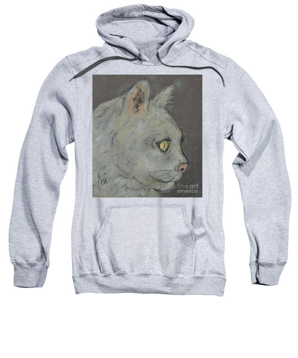 Pastels Sweatshirt featuring the drawing At Peace by Cori Solomon