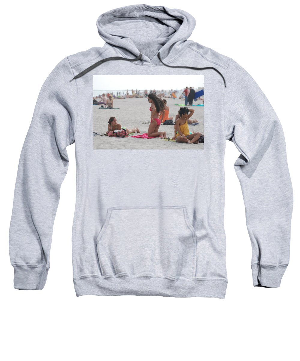 Girls Sweatshirt featuring the photograph At The Beach by Rob Hans