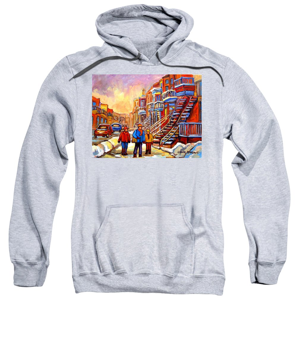 At The End Of The Day Sweatshirt featuring the painting At The End Of The Day by Carole Spandau