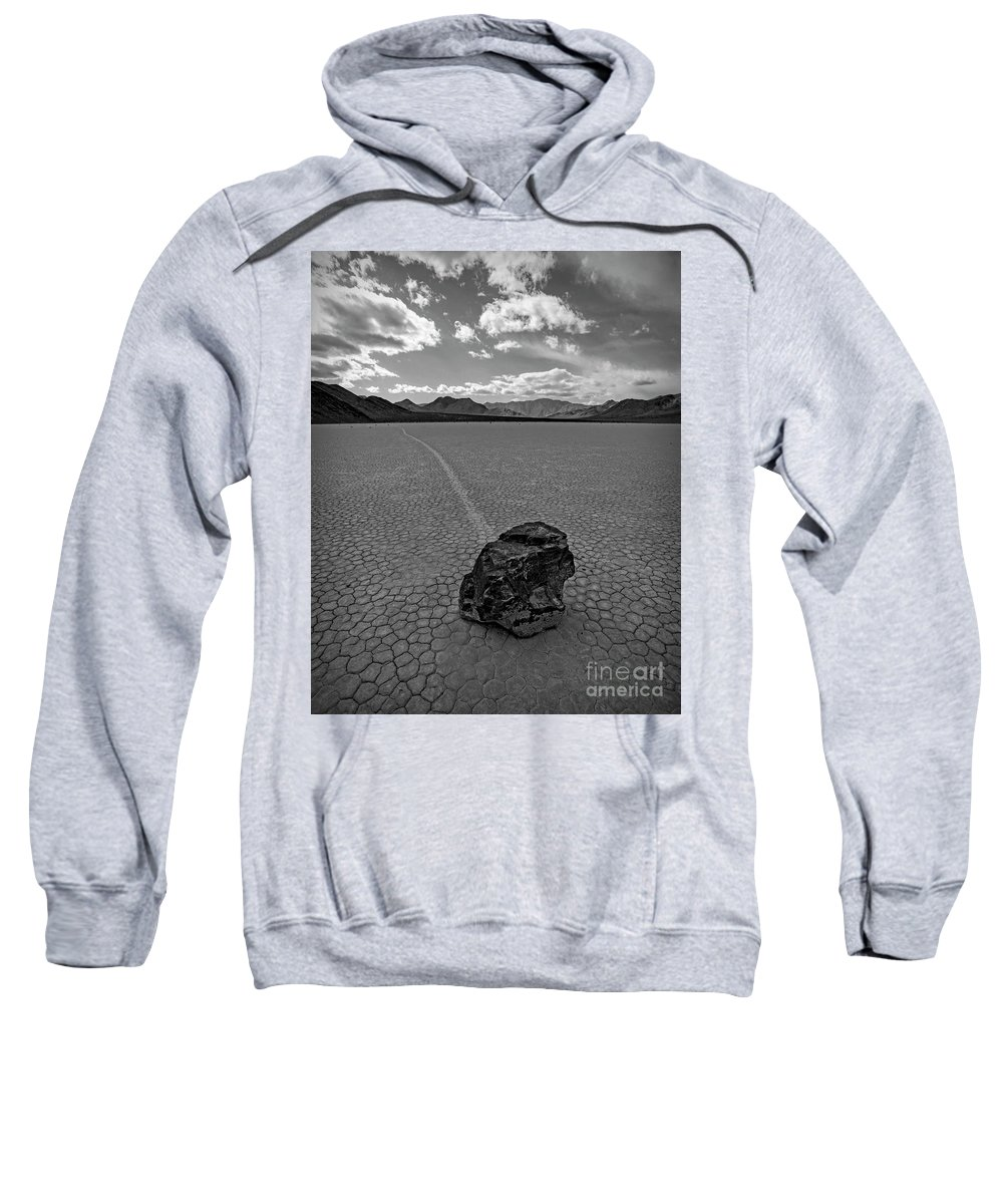 Death Valley Sweatshirt featuring the photograph At The Racetrack by Darrel Giesbrecht