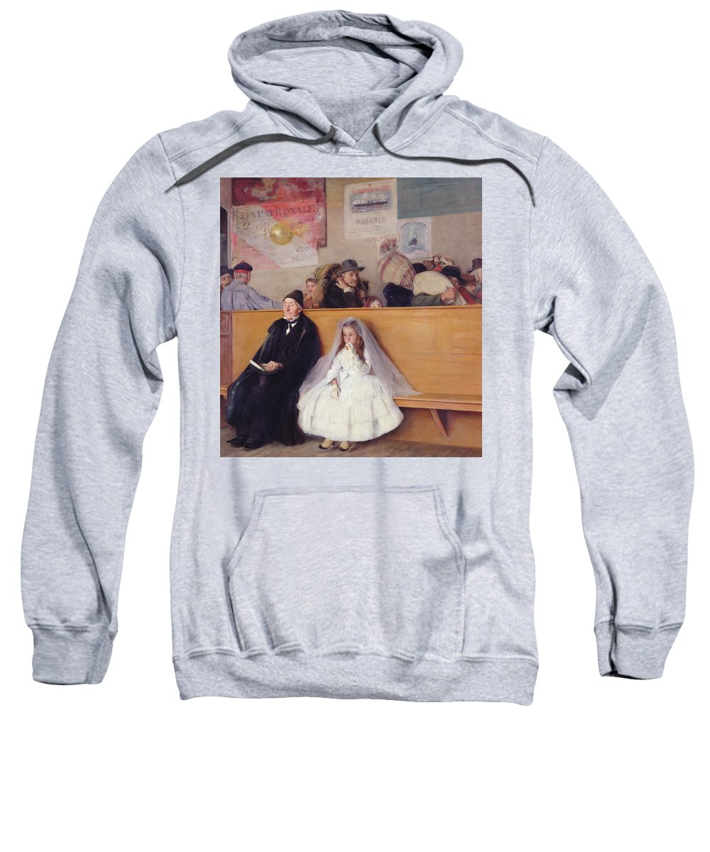 At The Station. Ricci Sweatshirt featuring the painting At The Station by Giuseppe Ricci