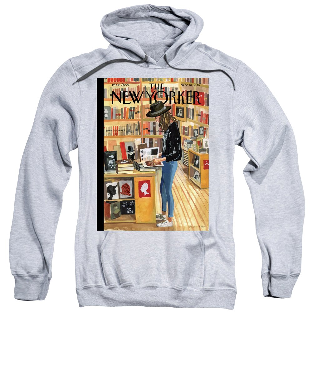 At The Strand Sweatshirt featuring the digital art At The Strand by Jenny Kroik