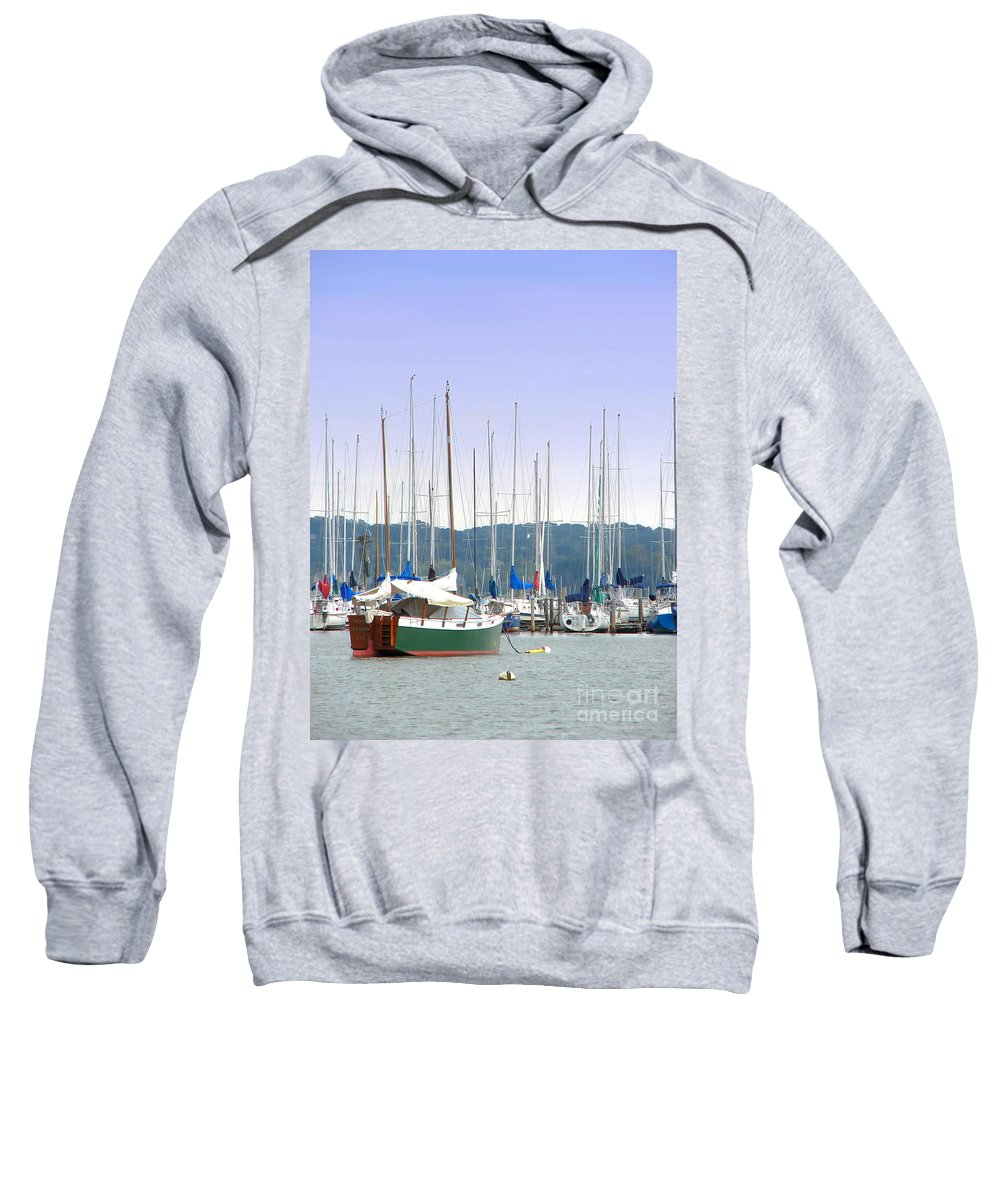 Seascape Sweatshirt featuring the photograph At The Yacht Club by Todd Blanchard