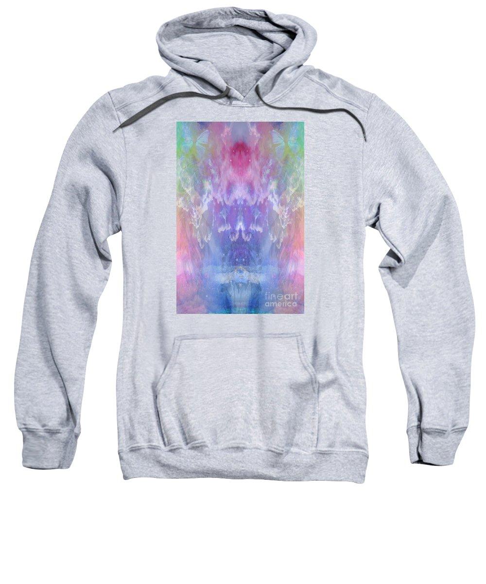 Sweatshirt featuring the digital art Atahensic-sky Goddess by Rich Baker