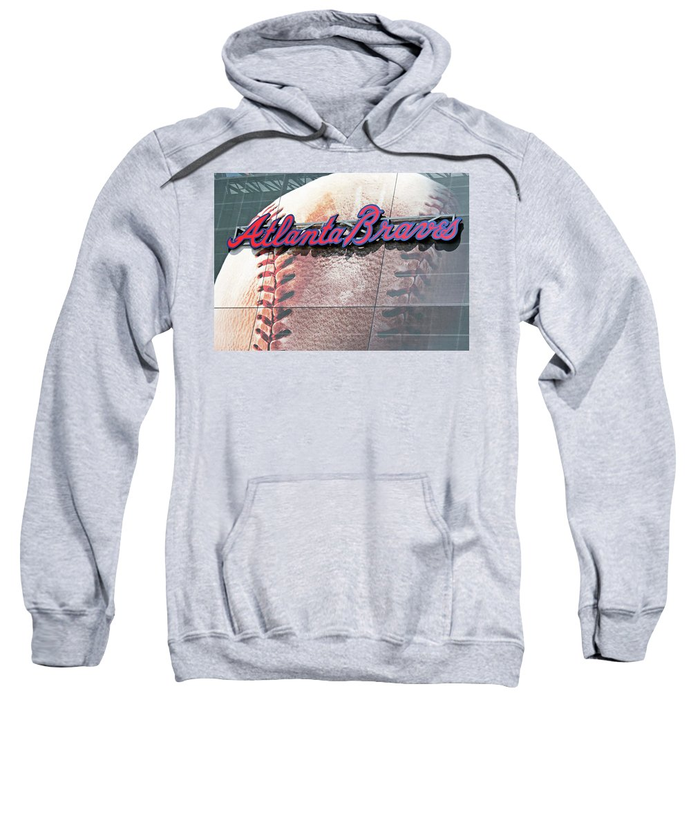 Atlanta Sweatshirt featuring the photograph Atlanta Braves by Kristin Elmquist