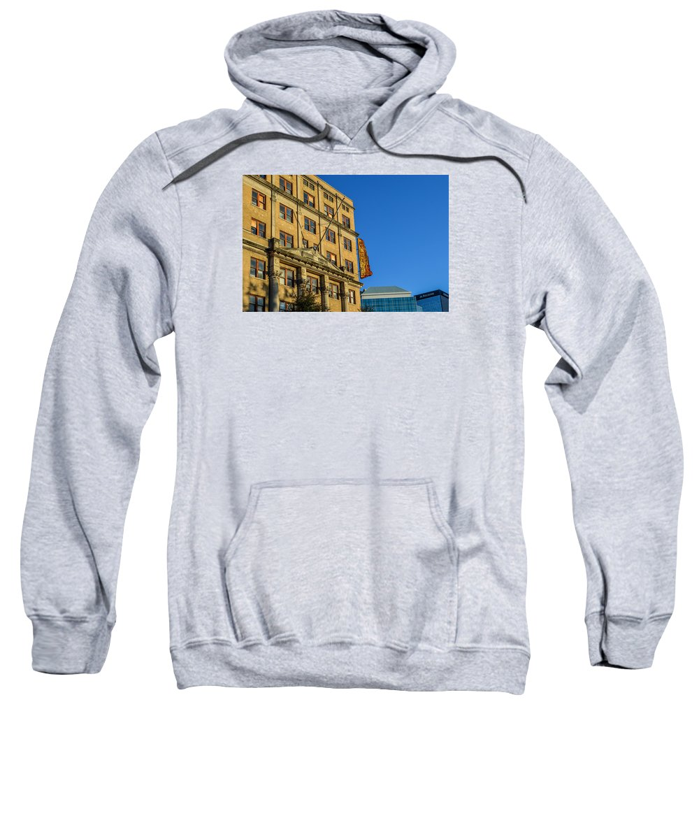 Birmingham Sweatshirt featuring the photograph Atlanta Life Sign In Birmingham Alabama by Michael Thomas