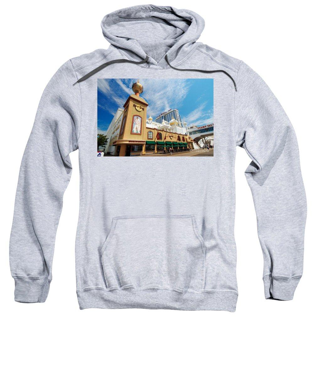 Boardwalk Sweatshirt featuring the photograph Atlantic City by George Mattei