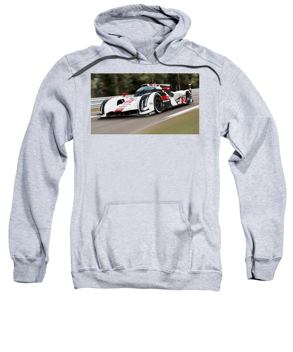 Audi Sweatshirt featuring the photograph Audi R18 E-tron, Le Mans - 03 by Andrea Mazzocchetti
