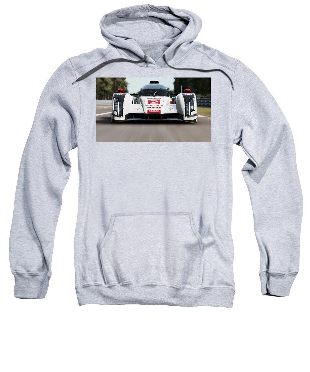 Audi Sweatshirt featuring the photograph Audi R18 E-tron, Le Mans - 04 by Andrea Mazzocchetti