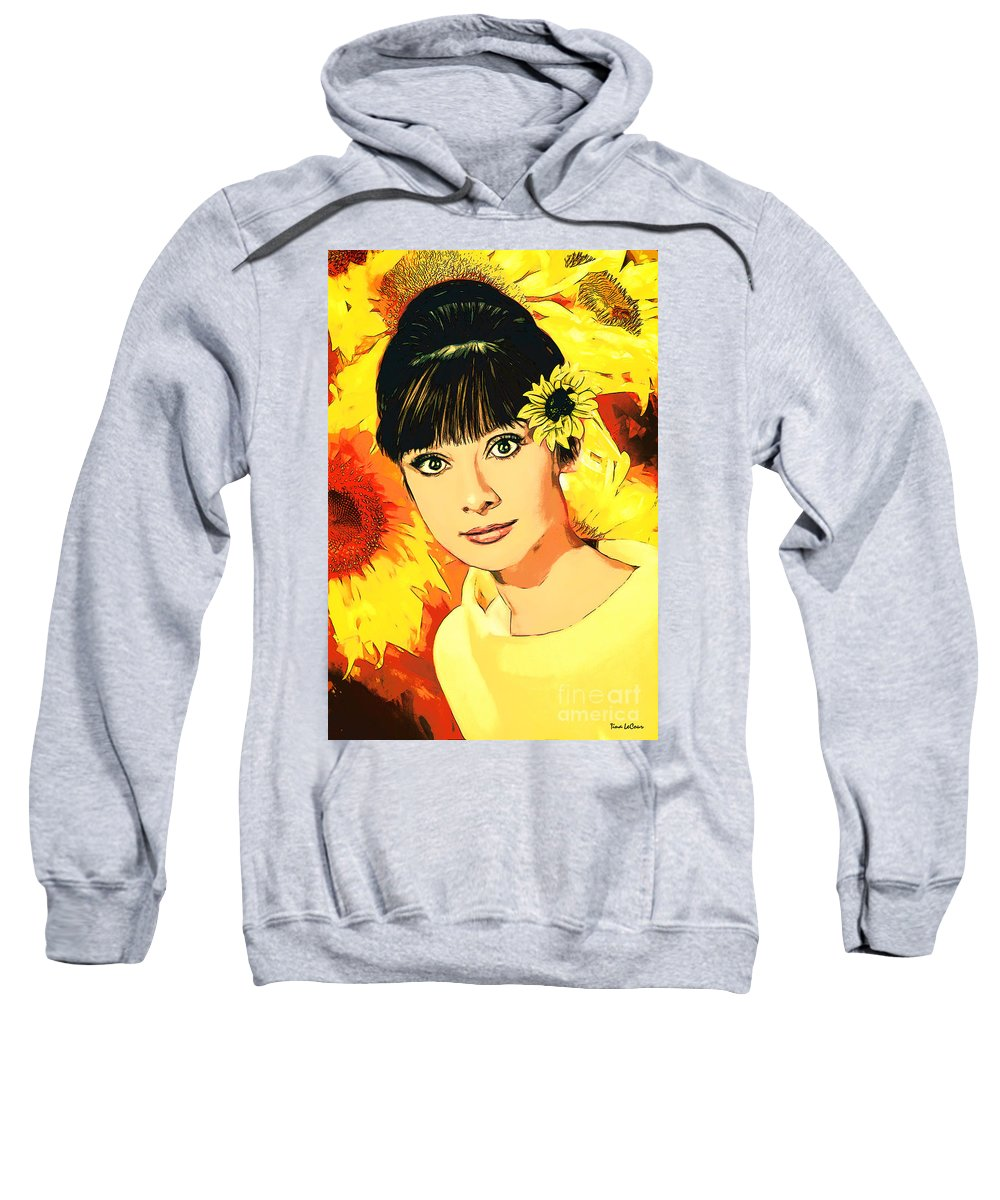 Audrey Hepburn Sweatshirt featuring the digital art Audrey Hepburn by Tina LeCour